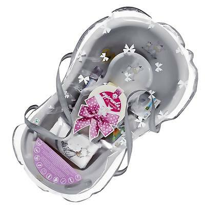 Newborn Baby Shower Gift Set bath gift Zebra collection with accessories Grey