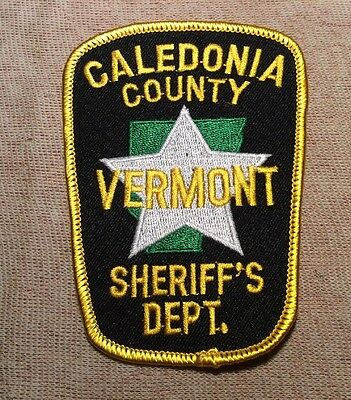 VT Caledonia County Vermont Sheriff Patch