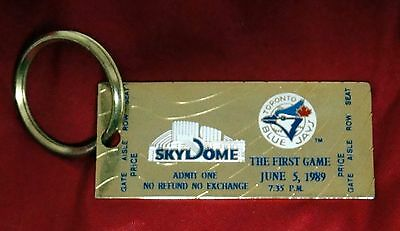Toronto Blue Jays – First Mlb Game At Skydome June 5, 1989 - Key Fob