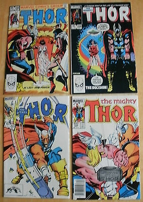 Thor 335 - 382  Large  Marvel Comics Collection