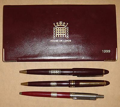 British House Of Lords Dairy 1999 - Un-Used – And 3 Pens