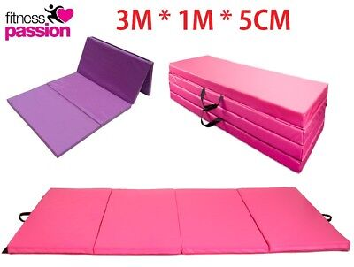 3M*1.2M*5CM LARGE Gymnastics Mat Gym Folding Panel Yoga Exercise Tumbling Pad
