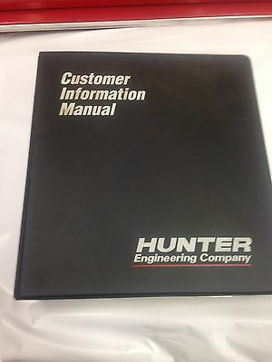 Hunter Alignment Machine P611 Instruction Owners Manual