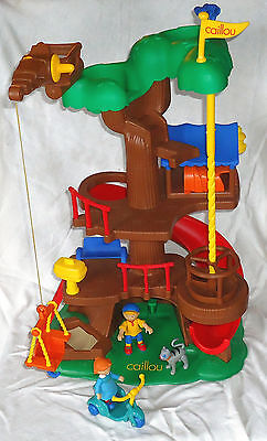 Complete Caillou Tree House with Gilbert Rosie Tricycle VHTF from 2001 2002
