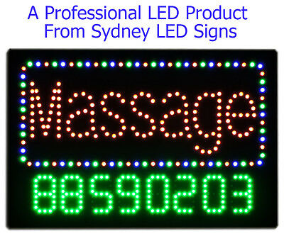 Animated LED For Business Open Sign  MASSAGE with programable Telephone Number