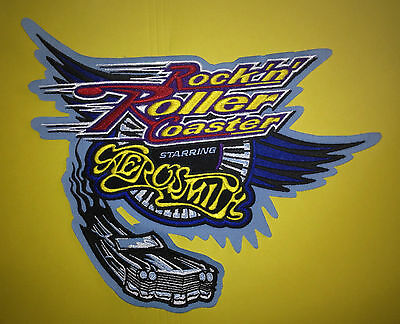 Disney Rockin Roller Coaster Aerosmith Iron On Jersey Jacket Hoodie Patch Crest