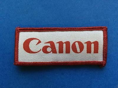 Rare Vintage 1980's Canon Cameras Promotional Iron On Hat Jacket Patch Crest