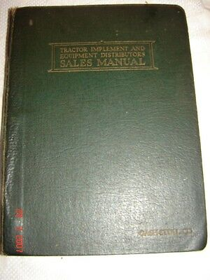 TRACTOR IMPLEMENT & EQUIPMENT SALES MANUAL 1925 GASH-STULL CO. - Chester, Pa