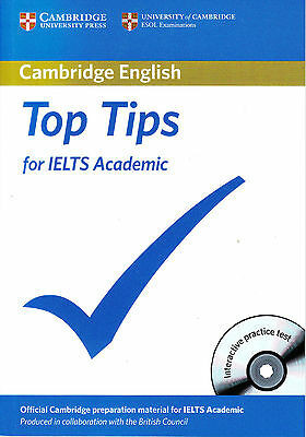 TOP TIPS for IELTS Academic w CD-ROM by Cambridge ESOL with BRITISH COUNCIL @NEW