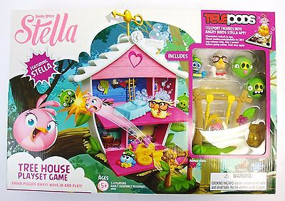 Angry Birds Stella Telepods Tree House Playset Game, Angry Birds Figures Pig NEW