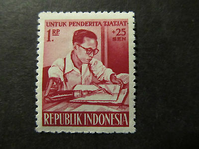 1957 - Indonesia - Painting With Artificial Hand - Scott B103 Sp51 1R + 25S (2)