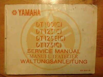 Yamaha DT 100 125 175 Service Repair Shop Manual 1975