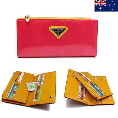 20 Card Inserts Large Capacity Genuine Leather Ladies Womens Wallet For iPhone