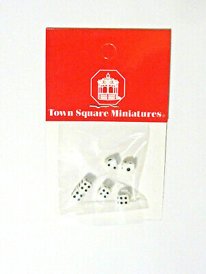 Dollhouse Miniature Tiny Sets of Dice, S8506