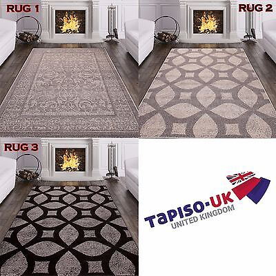 Extra Large Small Medium Size MODERN RUGS TOP DESIGN LIVING ROOM ! GRAY BLACK