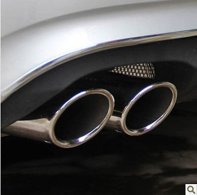 CHROME EXHAUST TIPS TAIL PIPE MUFFLER for VW GOLF 6 VI 2008-15 TDI TSI TFSI 70mm