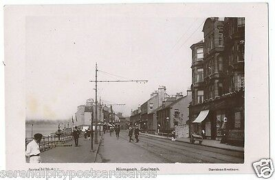 Gourock Kempock Street Shops Busy Road RP by Davidson Bros #5170-4 Unused