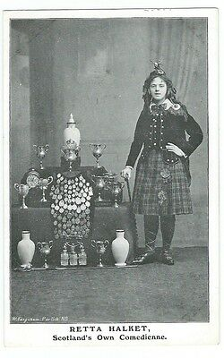 Patrick Nr Glasgow A Young Retta Halket Theatre Comedienne PPC by W Fergusson