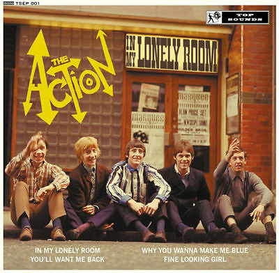"THE ACTION 'In My Lonely Room' 10"" vinyl EP mod 60s beat"