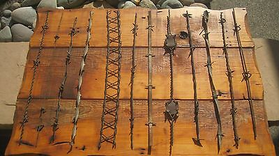 Large Antique Barbed Wire Display 1800's Bob Wire Bobbed Wire Barb Wire