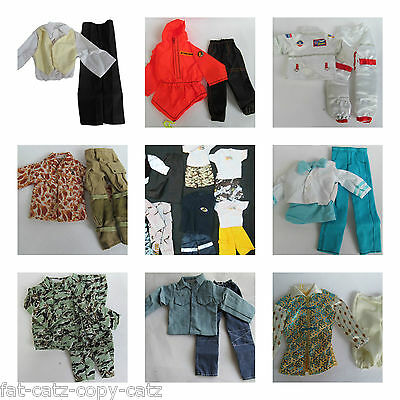 1 x KEN ACTION MAN GI JOE DOLLS CLOTHES OUTFITS TROUSERS SHIRT SHORTS SUIT SETS