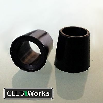 """Golf club shaft ferrules - For irons, hybrids & woods - .350"""" (8.89mm) - 6 sizes"""