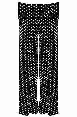 Girls Baggy Flare Spotted Polka Dot Black White Party Children's Trousers