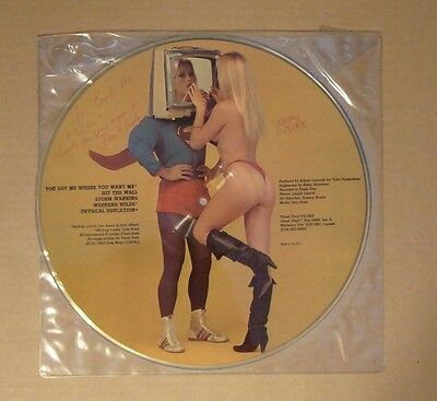 FRANK SODA The Adventures Of Soda Man EP SIGNED Picture Disc Near Mint Lee Aaron