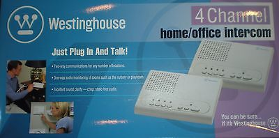 Westinghouse WHI-4C 4 Channel Home/Office Intercom Set of 2