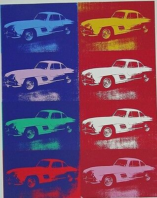 Warhol, Andy Mercedes-Benz 300SL Coupe- Siebdruck  Andy Warhol foundation - cars