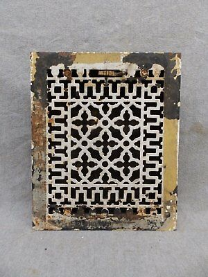Antique Cast IronHeat Grate Vent Register Old Decorative Vintage 8x10 45-17R
