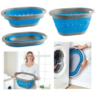 Large Collapsible Laundry Basket Washing Clothes Bin Space Saving Foldable New