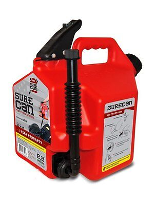 SureCan SUR22G1 Gas Can with Rotating Spout - 2.2 Gallon