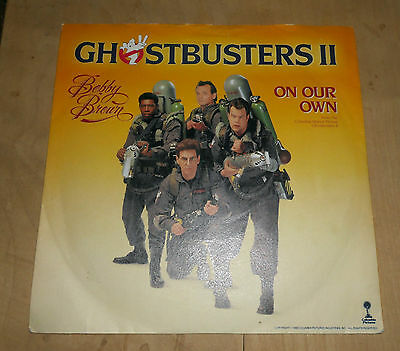 "Ghostbuster Ii Bobby Brown On Our Own 7"" Rare Vinyl Record Lp Vintage 1989"