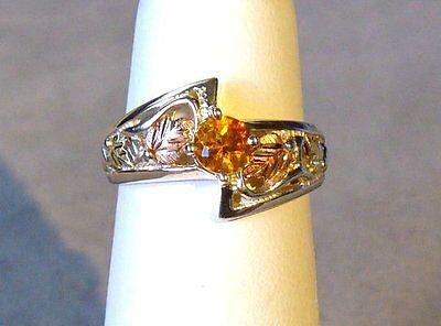 CITRINE TWO TONE 12K GOLD and STERLING SILVER RING SIZE 6 1/4 - BLACK HILLS GOLD