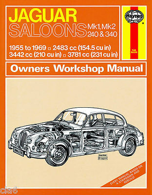Jaguar Mk1 Mk2 240 340 Owners Workshop Manual 2.4 3.4 3.8 1955-69 *NEW