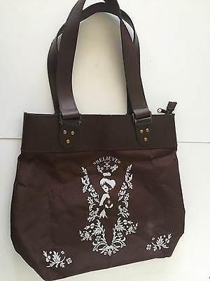 Disney Store Tinkerbell Tink Tinker Bell Believe Brown Tote Bag Purse