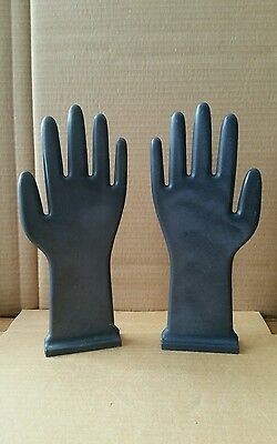 "PAIR Vintage Industrial Glove Mold HANDS Great For Jewelry Display  12"" Inches"