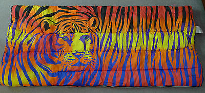 Lisa Frank Tiger Teen Sleeping Slumber Bag 1986 RARE Vintage Colorful Stripes