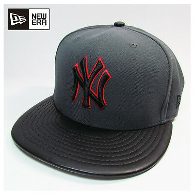 New York Yankees MLB Fitted Etcher Gray New Era 59fifty Fitted Cap, Hat