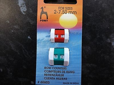 *PONY* Knitter's Accessories Row Counter Small/Large for assorted size2-7.5mm