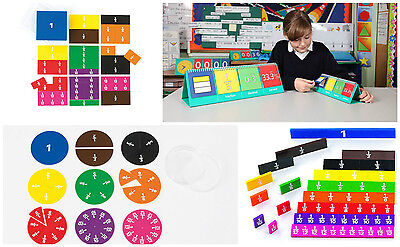 Fraction Sets varieties available-  cubes , tiles, circles, squares, flip charts