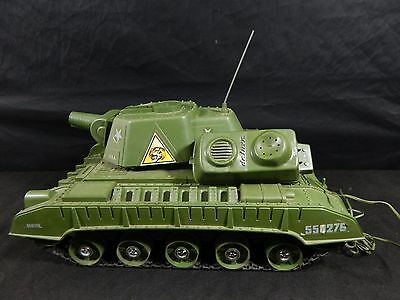 Vintage 1950's Deluxe Reading Tiger Joe Battery Operated Tank With Remote