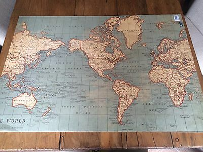 Vintage World Travel Map Wrapping / Craft Paper Sheets Wedding Gift Wrap