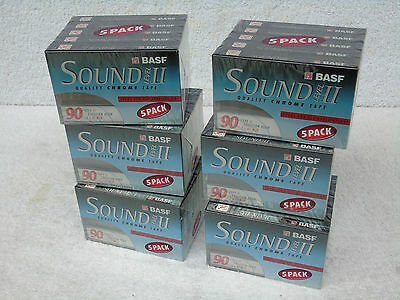 30 PACK BRAND NEW BASF SOUND LEVEL II Type II Chrome 90 Min Blank Cassette Tapes