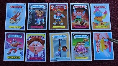 1952 ~ Lot of 10 Different GARBAGE PAIL KIDS GPK Trading Cards Stickers ~ Mixed