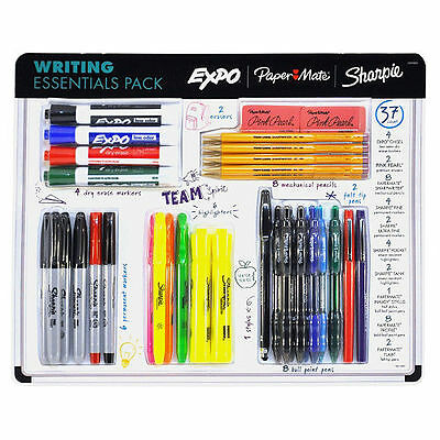 Paper Mate Sharpie 37-pack Writing Essentials Ball Point Pens Markers Pencils