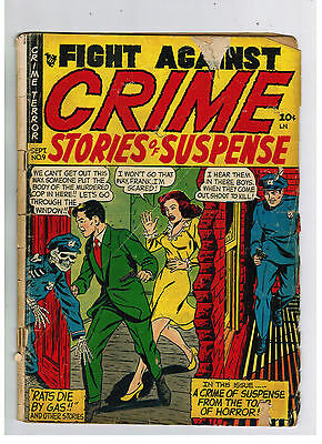FIGHT AGAINST CRIME COMIC No. 9 from 1952 Dead Cop Cover