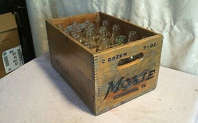 Vintage Moxie Advertising Wooden Drink Case ~ Original Bottles ~ Country Store