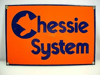 Chessie Systems Railway Sign Enamel Repro Railroad Sign